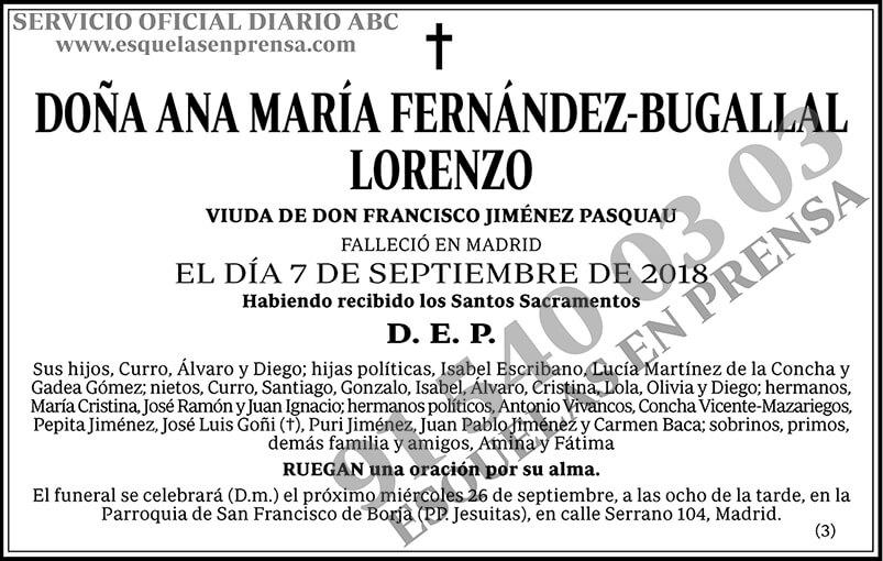 Ana María Fernández-Bugallal Lorenzo
